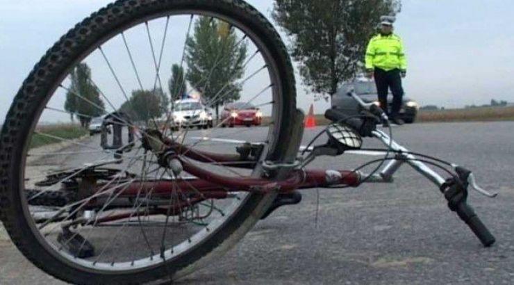 Biciclist accidentat în Remetea Oașului