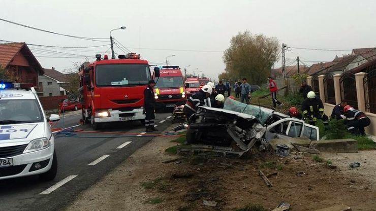Accident grav în Satu Mare. O persoană a murit, alte cinci au ajuns la spital
