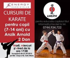 Înscrieri la cursuri de karate la Energy Kardio Club