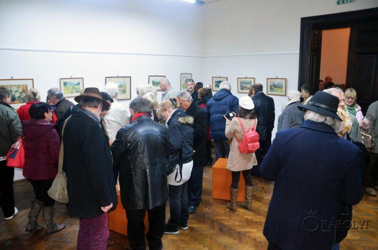 Expoziție de acuarelă în memoria lui Bogáti Sándor, vernisată azi la Castelul din Carei