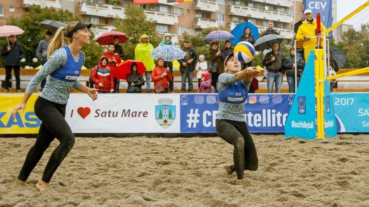 CEV Beach Volleyball Satellite Satu Mare | Sătmărencele Vaida și Matei joacă în recalificări pentru semifinale