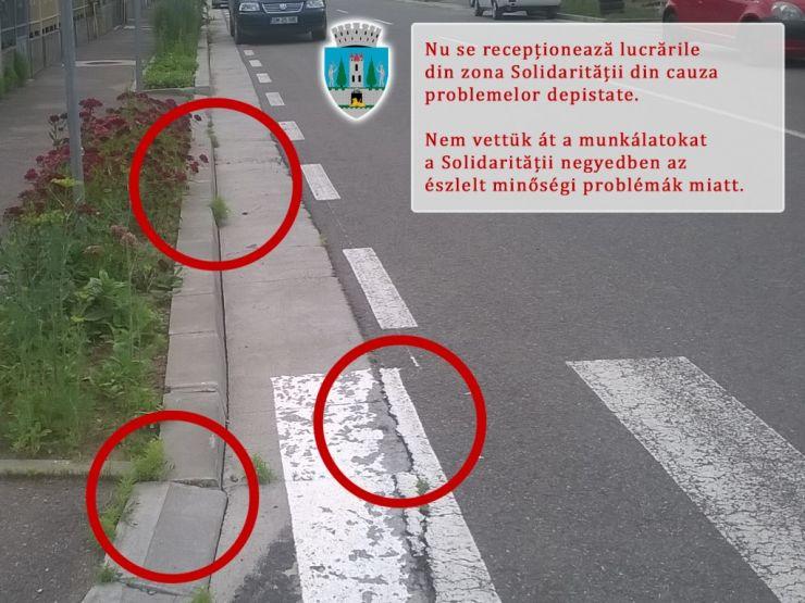 Primarul Kereskenyi a refuzat să recepționeze investiția din cartierul Solidarității