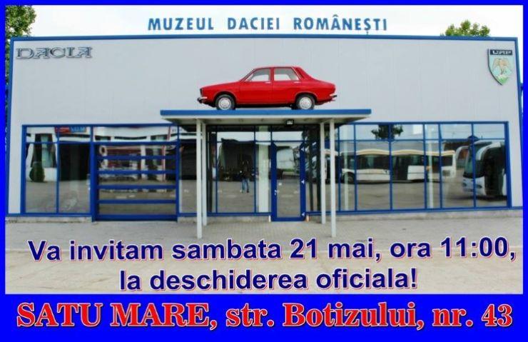 """Unic în țară. La Satu Mare se va inaugura """"Muzeul Daciei Românești"""""""
