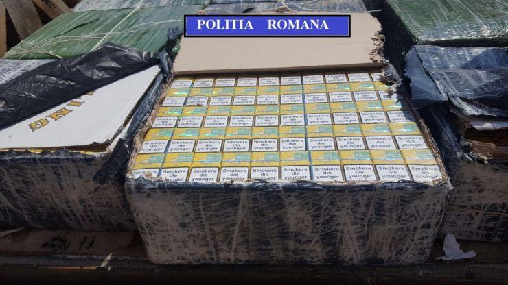 Traficant de țigări, reținut de polițiștii sătmăreni. Transporta 240.000 de țigarete de contrabandă