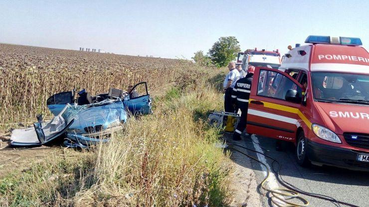 Accident rutier pe DN19. Doi morți și trei răniți