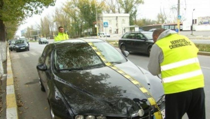 Șofer depistat după ce a comis un accident și a fugit de la fața locului