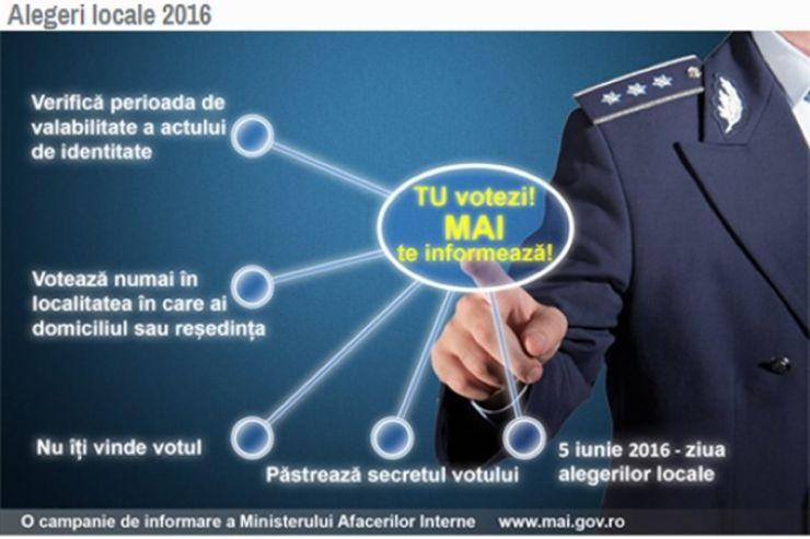 MAI lansează campania de informare: TU VOTEZI, MAI TE INFORMEAZĂ
