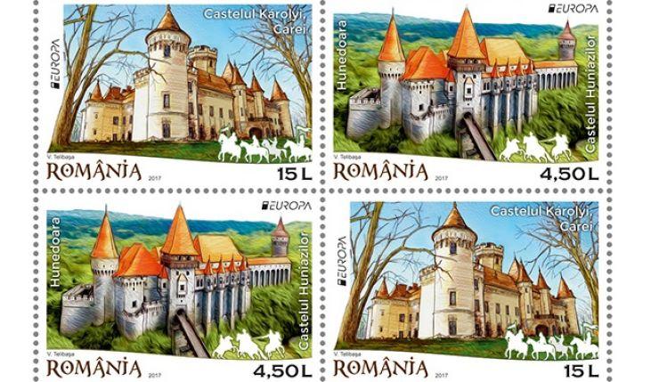 """Castelul Károlyi, ilustrat pe timbrele din emisiunea de mărci poștale intitulată """"Castele"""""""