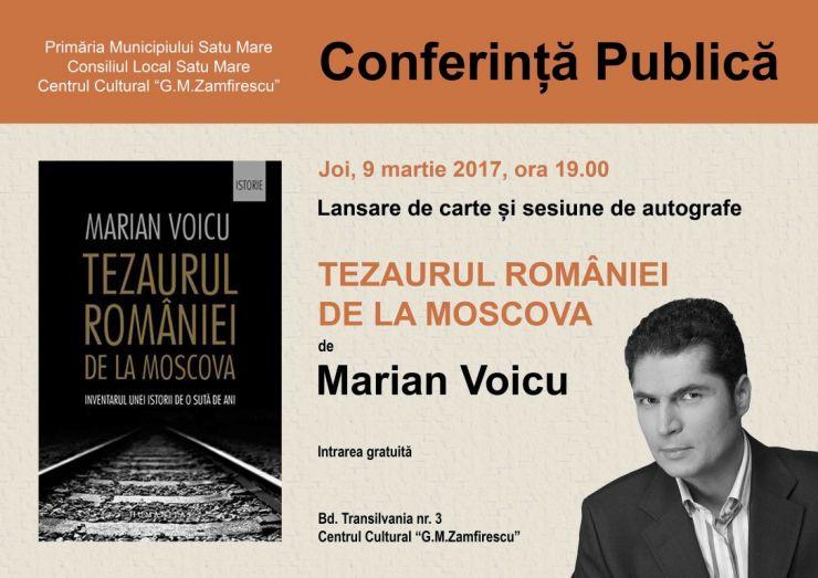 Conferință publică și lansare de carte: Tezaurul României de la Moscova