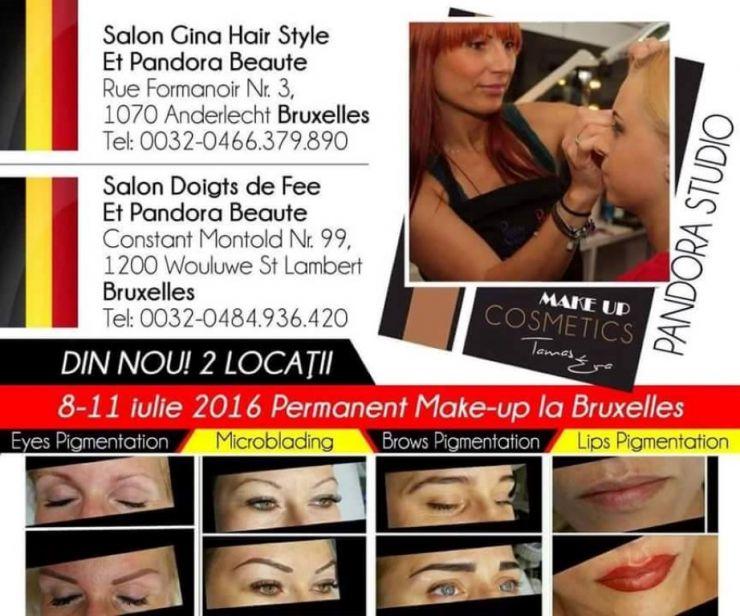 Make-up artist Eva Tămaș va participa la un schimb de experiență la Bruxelles