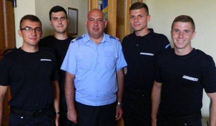 Patru elevi jandarmi, în practică la Jandarmeria Satu Mare