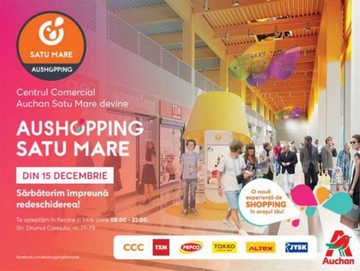 Centrul Comercial Auchan Satu Mare se redeschide în 15 decembrie