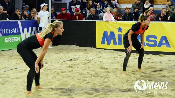 Două victorii pentru Beata Vaida si Adriana Matei la CEV Beach Volleyball Satellite Satu Mare
