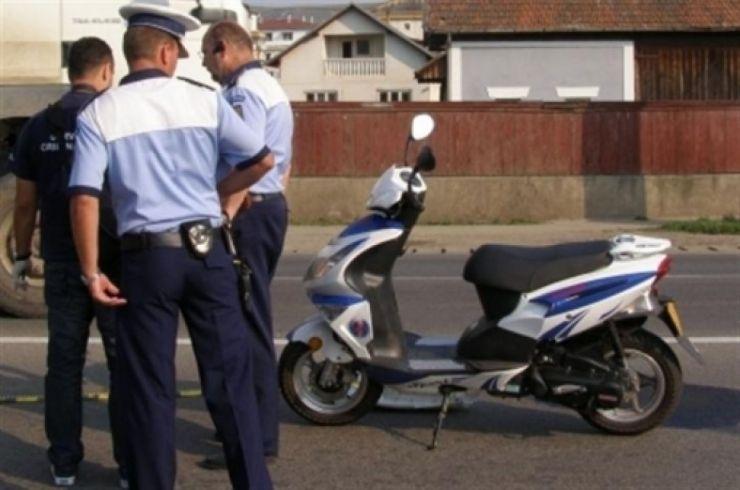 Dosar penal pentru un mopedist, de 25 de ani, din Satu Mare