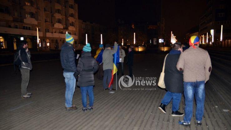 Mai puțin de 20 de protestatari în această seară, la Satu Mare