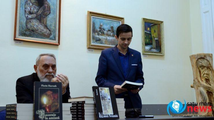 """Scriitorul Florin Horvath și-a lansat romanele """"Umbrele Nevăzutului"""" și """"Vecernie la amiază"""" și la Satu Mare"""