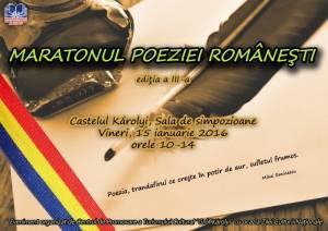 Maratonul poeziei românești, vineri, la Castelul din Carei
