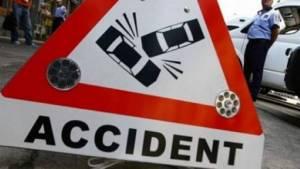 Accident în fața Primăriei Cămărzana