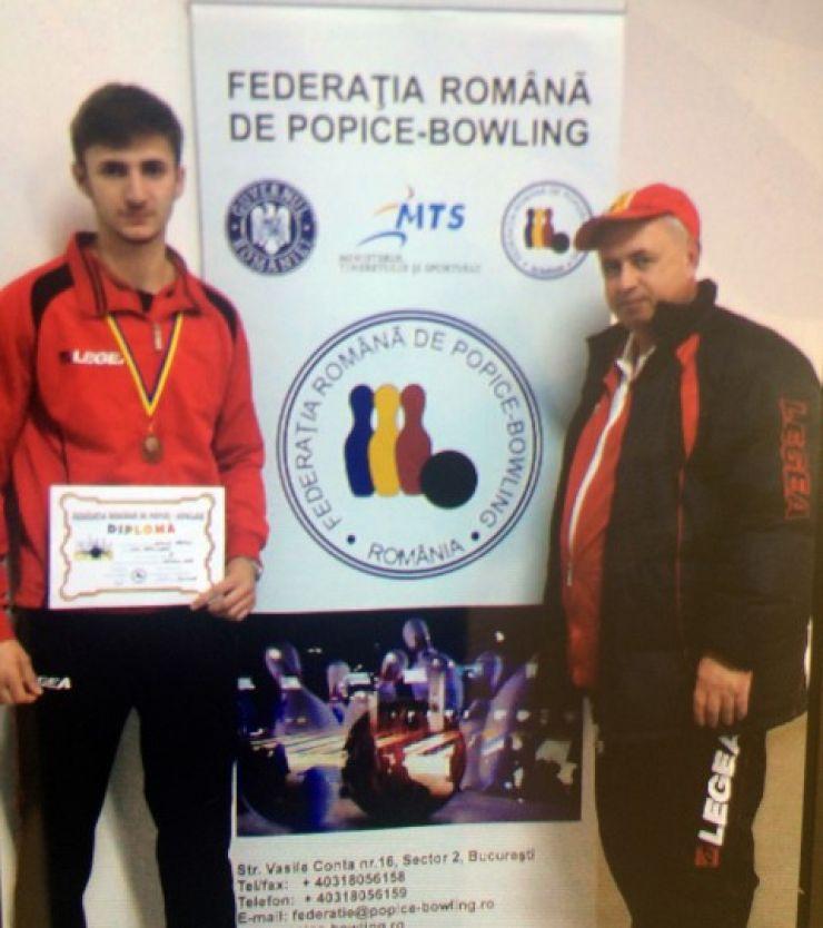 Popice: Marius Lucuț, medaliat cu bronz la Campionatul Național de Juniori