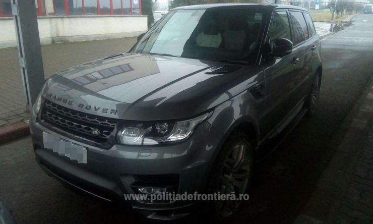 Land Rover în valoare de 58.800 euro, semnalat furat din Marea Britanie, depistat la Petea