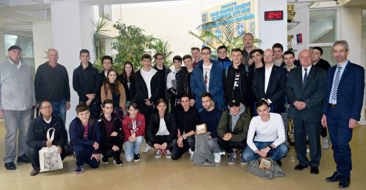 Baschetbaliștii din Rzeszow, în vizită la Satu Mare