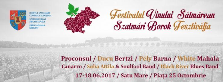 Festivalul Vinului Sătmărean 2017. Vor urca pe scenă Proconsul și Ducu Bertzi