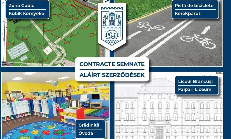 Patru noi contracte pe fonduri europene semnate de Primăria Satu Mare