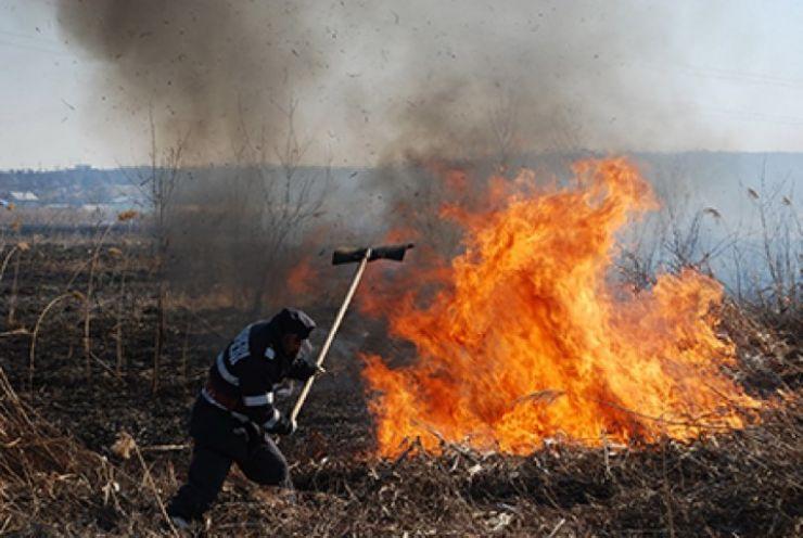 Zeci de hectare de mirişti şi vegetaţie uscată mistuite de flăcări, în weekend
