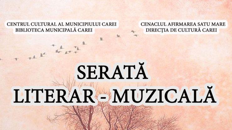 Serată literar-muzicală, la Carei