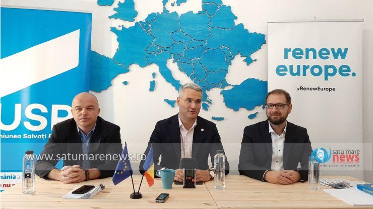 Europarlamentarul Alianţei USR-PLUS Dragoş Pîslaru şi-a deschis cabinet în municipiul Satu Mare