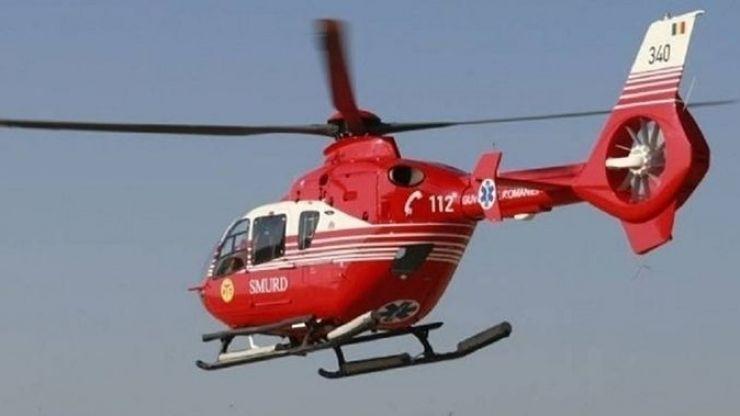 Bărbat în șoc hemoragic transportat cu elicopterul SMURD la Cluj