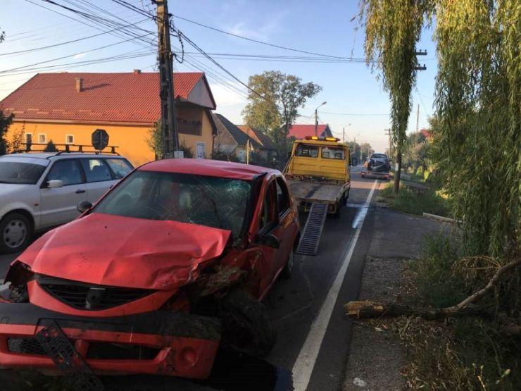 Accident în această dimineață la Drăguşeni (FOTO)