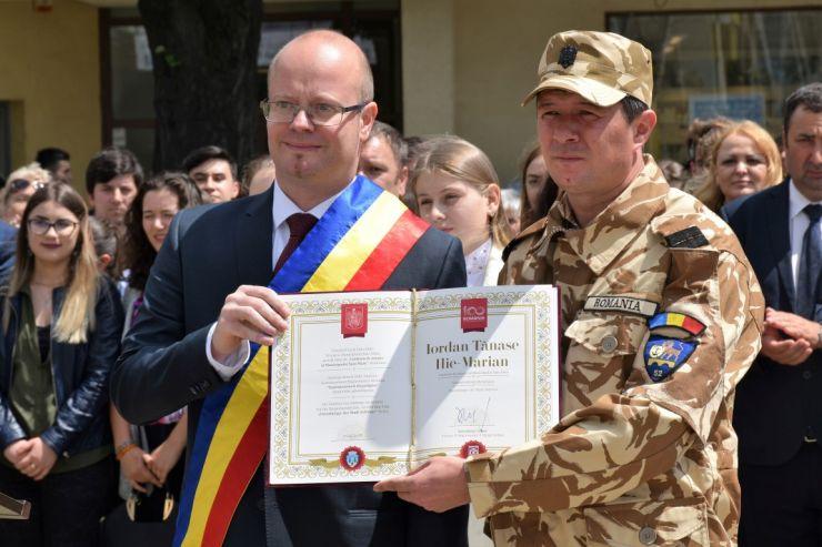 Soldatul Ilie-Marian Tănase Iordan, erou în Afganistan, cetățean de onoare al Sătmarului