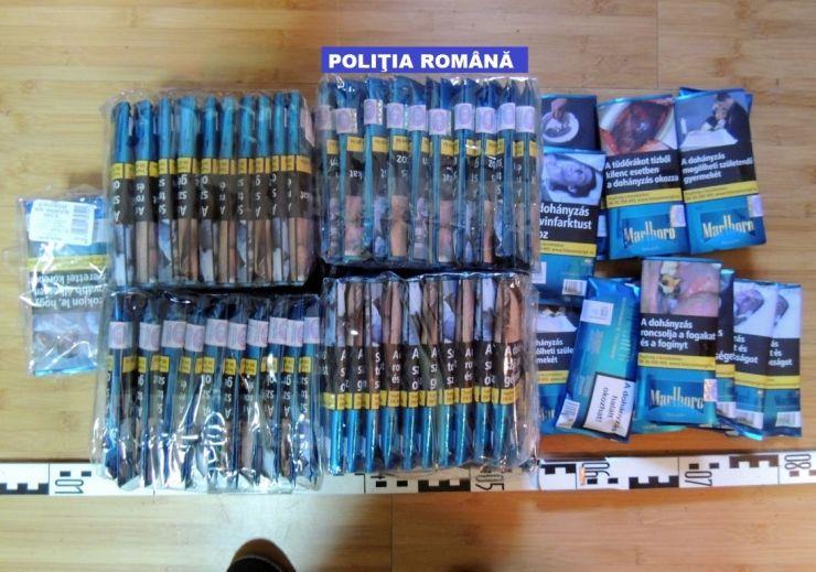 Percheziții la persoane bănuite de operațiuni ilegale cu tutun din Ungaria