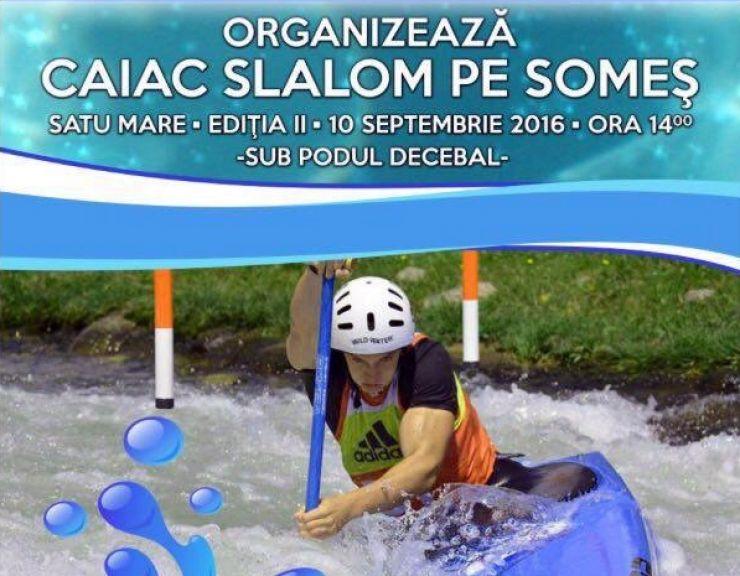Caiac | Concurs internaţional de slalom pe râul Someş
