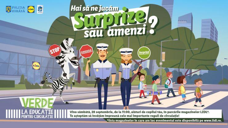 """Lidl și Poliția Română dau """"Verde la educație pentru circulație"""""""