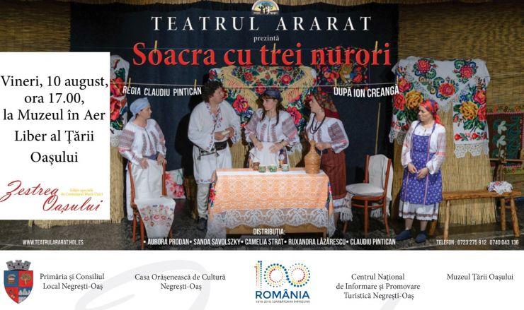 Spectacol al Teatrului Ararat, la Muzeul în Aer Liber al Ţării Oaşului