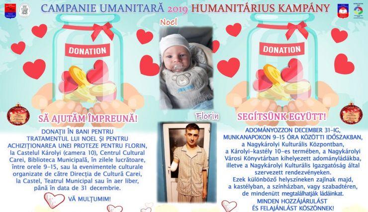 Acțiune umanitară   Haideți să îi ajutăm pe Noel și Florin!
