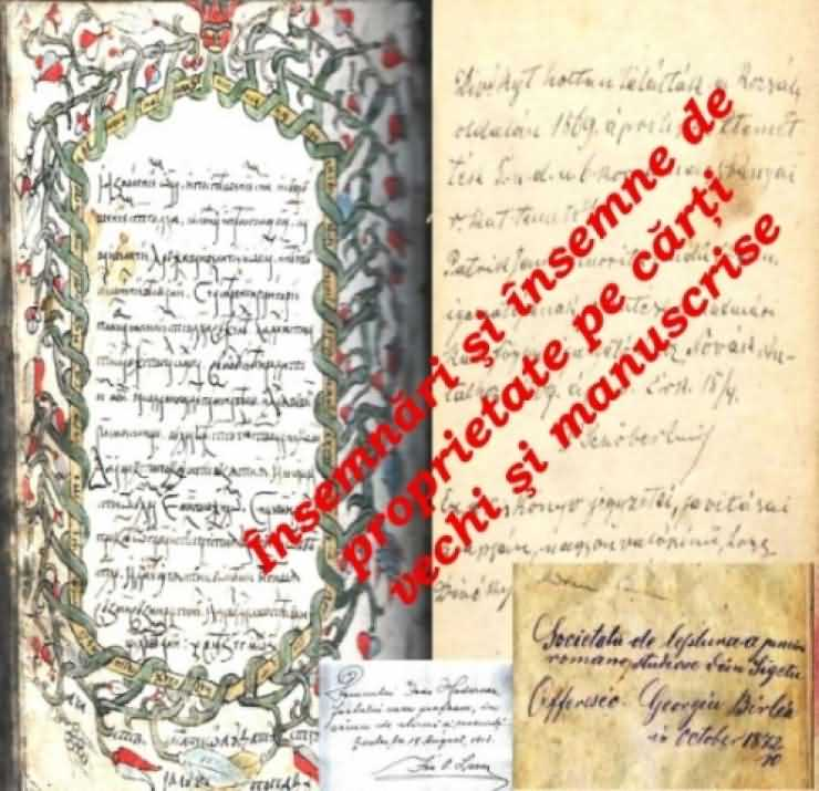 Însemnări şi însemne de proprietate pe cărţi vechi şi mansucrise surprinse într-o expoziţie foto-documentară