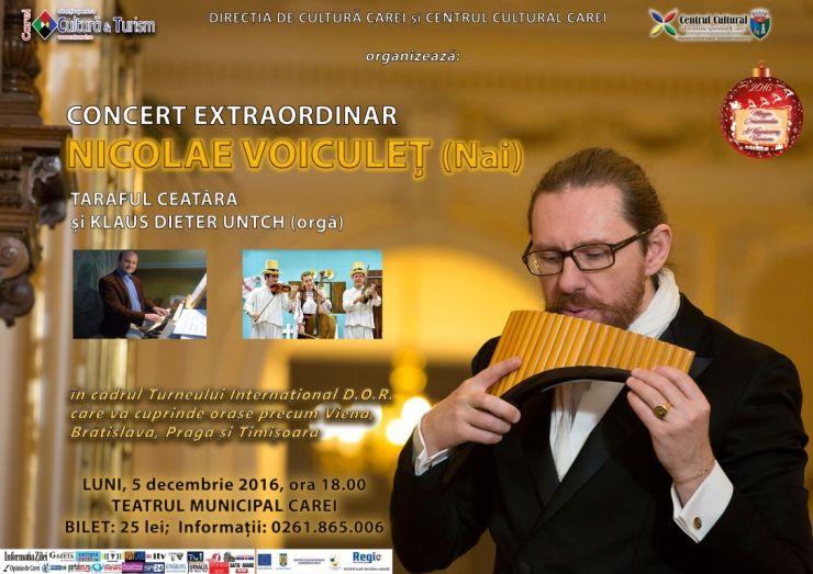 Nicolae Voiculeț va susține un concert în cadrul Festivalului de Crăciun de la Carei