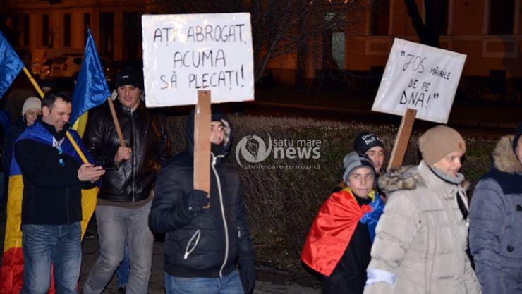 Peste 500 de sătmăreni au ieșit în stradă