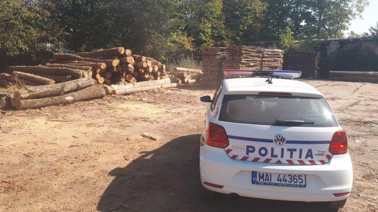 Poliţiştii au confiscat peste 70 mc de material lemnos