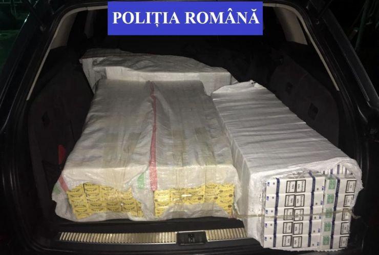 FOTO. Contrabandist reținut de polițiști pe strada Botizului din municipiu