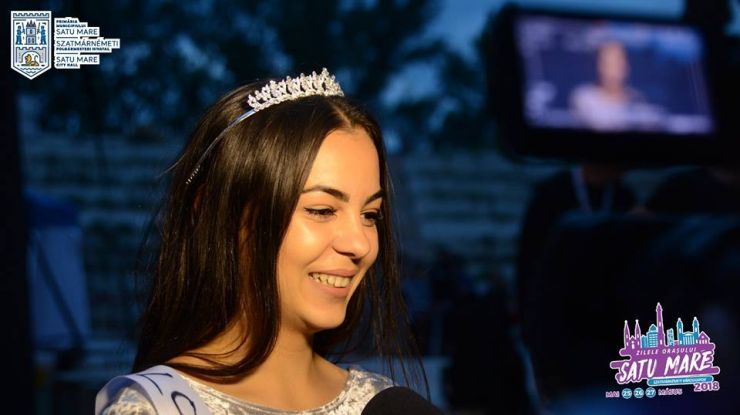 Bianca Mărculescu este Miss Zilele Orașului Satu Mare 2018
