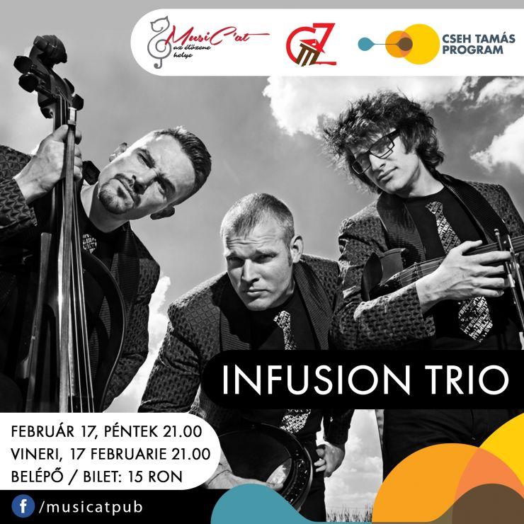 Hituri moderne pe vioară şi violoncel: Infusion Trio la MusiCat!