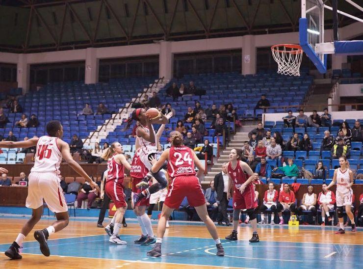 Baschet | CSM Satu Mare a câștigat în deplasare la BC Sirius Tg. Mureș