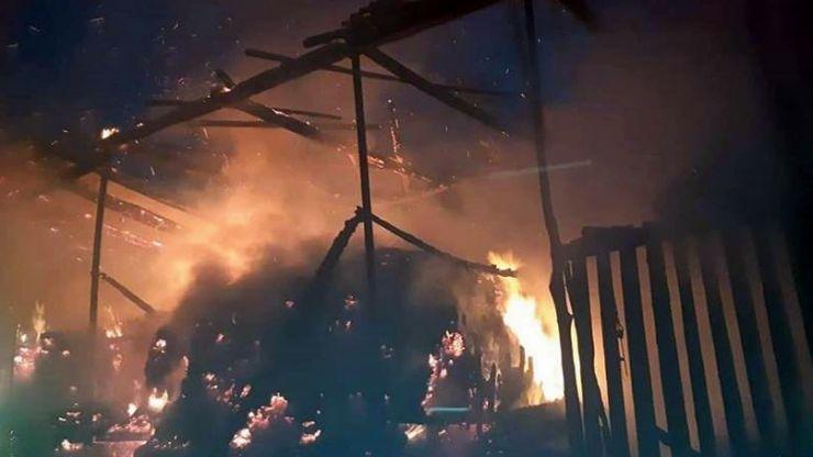 Incendiu de amploare în Turț