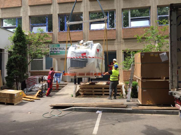 Noul aparat RMN a ajuns la Spitalul Județean de Urgență Satu Mare