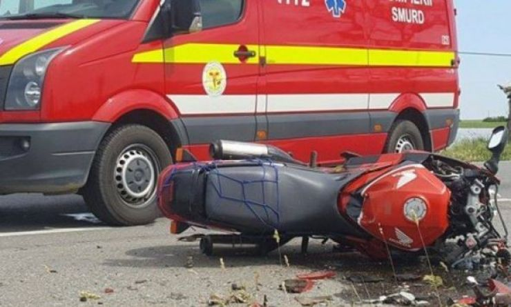 Motociclist rănit în urma unui accident de circulație
