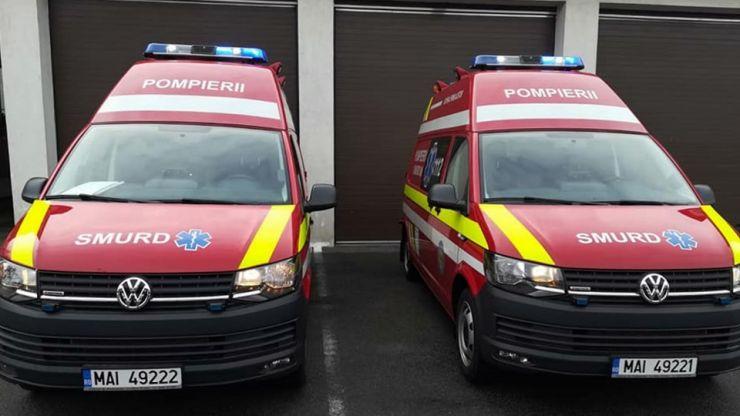 Pompierii sătmăreni, dotați cu două autospeciale SMURD noi
